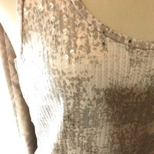 Ann Taylor sequin print sleeveless top